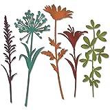 Stanzschablone für Scrapbooking, schöne Blumen, Metall, Prägung, Schablone zum Basteln von Karten silber