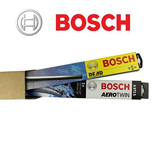 BOSCH AR653S + H400 complete set set voor + achter ruitenwissers/wisserbladen + 2 x reservelubber + 2 x T10 lampen