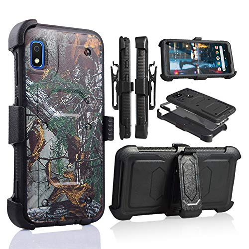 A10E Case, for Samsung Galaxy A10E Full Body Armor Rugged Holster Defender Hybrid Tough Case with 360 Swivel Belt Clip Kickstand & Built in Screen Protector (Hunter Camo)