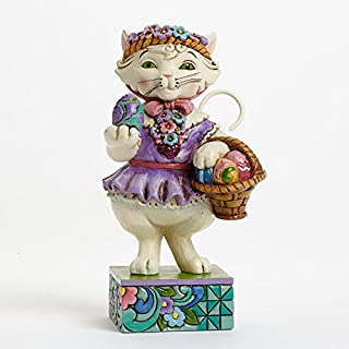 Jim Shore Heartwood Creek Purrfect Day For An Egg Hunt-Pint-Sized Easter Cat Figurine