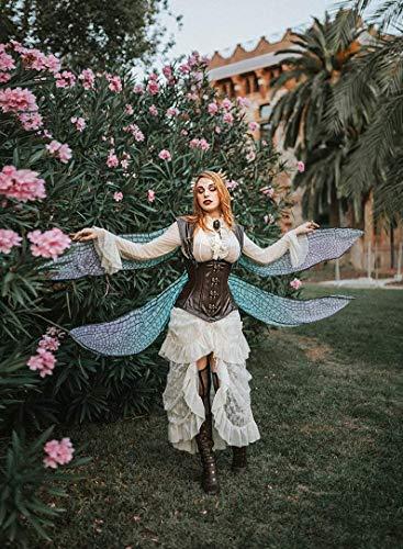 Dragonfly Fairy Wings Steampunk Kostüm lila rosa blau Schmetterling Cape Mantel Halloween Cosplay Lolita Jugendstil