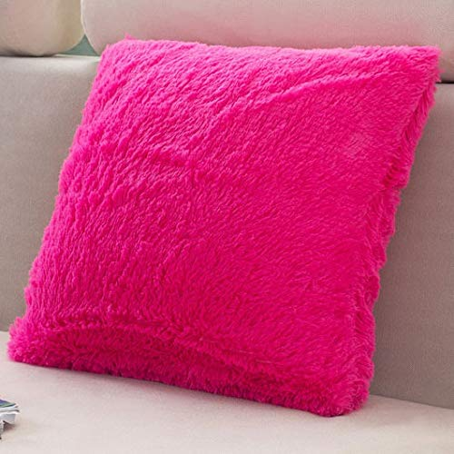 xjm Samtkissen Abdeckung Fluffy Kissen Dekoration Fest Dekorative Kissen for Sofa Pillowcase Werfen Kissen...