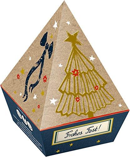 Caja Regalo Pirámide con 6 Bolsas de TE Navidades Sabor Especies y Te Negro de Spiegelburg