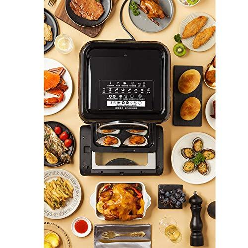 513itt6vqvL. SL500  - Generic002 Air Fryer, 10L Elektro-Heißluft-Ofen Fryer Oilless Herd, Full Circle Beheizte Cyclonic System, 6 Zubehör, 8 Koch Presets, LED Digital Touchscreen, for Röstung und Nacherwärmung