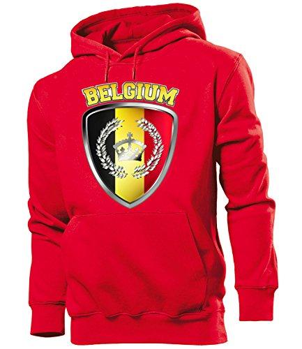 Belgien Belgium Belgique Fussball Fanhoodie Fan Männer Herren Hoodie Pulli Kapuzen Pullover Fanartikel Trikot Look Geschenke flagge zubehör fahne fußball Fanartikel Oberteil flag artikel outfit