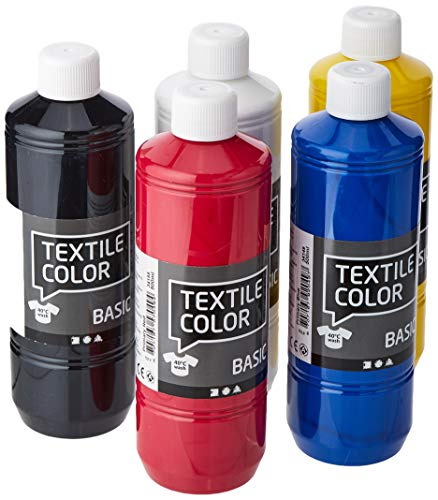 Color textil, colores primarios, 5x500ml