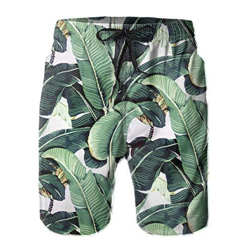 Olverz Martinica Banana Leaf - Bañador ligero para hombre con bolsillos