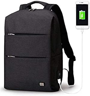 Mark Ryden Business Water Resistant Polyester Laptop Backpack with USB Charging Port Fits Under 15.6 Inch Laptop and Notebook