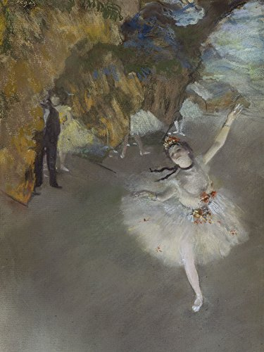 Artland Alte Meister Wandbild Edgar Degas Der Star Leinwand Bilder 60 x 45 cm Kunstdruck Gemälde Impressionismus R2LN