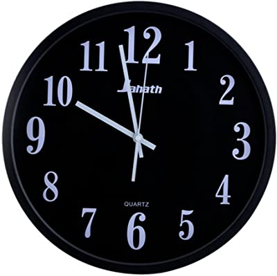 GAOHL 12-inch living room modern silent quartz wall clock home decor