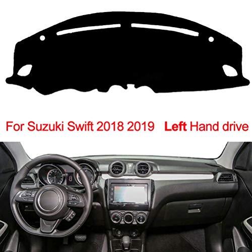 BTSDLXX 1Pcs Tappetino per Cruscotto Auto, per Suzuki Swift 2018 2019 Strumento Pannello Cuscinetto Ombreggiante Antiscivolo Protezione Solare Tappeti, Car Dash Cover Dashboard Mat