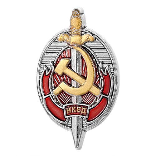 JXS Colección de Insignias Militares soviéticas, réplica de la Medalla de Trabajadores honorarios de NKVD soviético, Insignia de Cobre, colección de Fans Militares