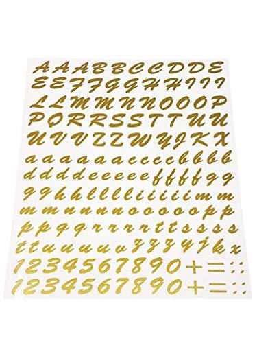 Quattroerre 1250 set letters sticker goud