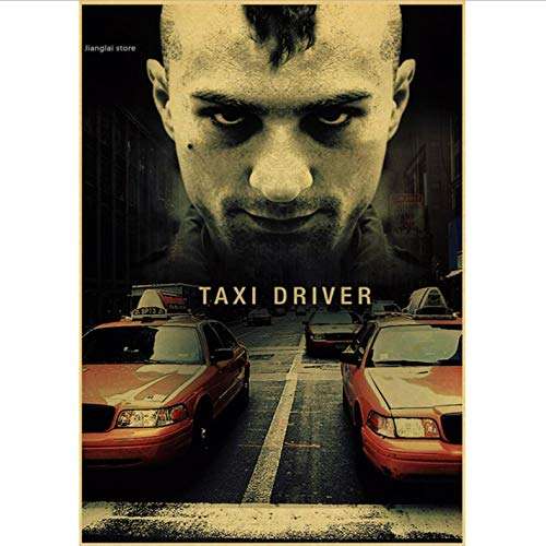 No Taxi Driver Driver Taxi Classic Movie Poster and Prints Art Canvas Painting Wall Pictures para La Sala De Estar Decoración para El Hogar 50X70Cm Sin Marco