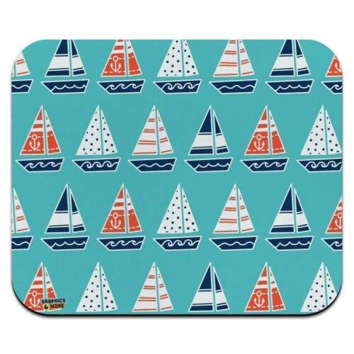 Mausmatte, niedliche Segelboot-Muster Low Profile Dünne Mauspad Mousepad, Gaming Mouse Pad