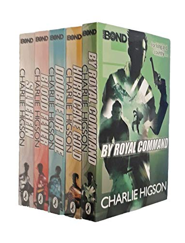 Young Bond Series Collection Charlie Higson 5 Books Set (SilverFin, Blood Fever, By Royal Command, Hurricane Gold, Double or Die)