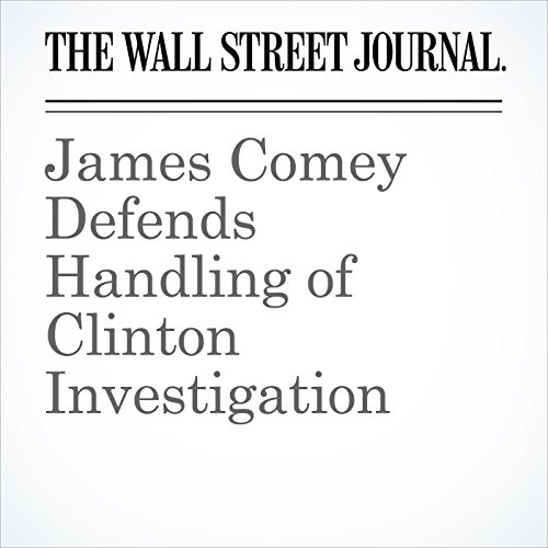 James Comey Defends Handling of Clinton Investigation copertina