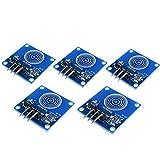 ARCELI DIY 5PCS TTP223B Módulo de Interruptor de Sensor de Contacto Capacitivo Digital para Arduino