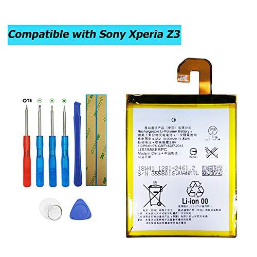 Upplus LIS1558ERPC - Batería de Repuesto Compatible con Sony Ericsson Xperia Z3 D6616 D6633 D6653 L55T Xperia Z3 WiMAX 2+ L55T con Kit de Herramientas