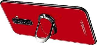 Realme X2 Pro ケース ストラップホール Realme X2 Pro 背面ケース ガラスフィルムバックパネル 強化ガラス背面カバー Realme X2 Pro カバーRX2P-BK-20303 (ホワイト)