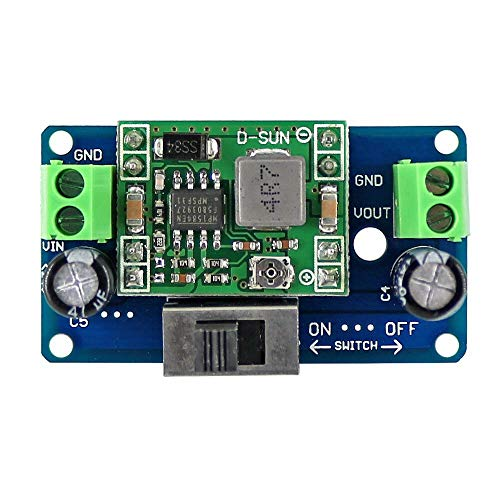 MP1584 5V Buck Converter 4.5-24V Adjustable Step Down Regulator Module with Switch OPEN-SMART for A-r-d-u-i-n-o - products that work with official for A-r-d-u-i-n-o boards 5pcs
