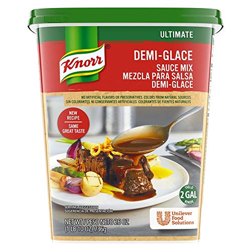 Knorr Professional Ultimate Demi-Glace Sauce Mix Gluten Free, No Artificial Flavors or Preservatives, No added MSG, Dairy Free, 26 oz, Pack of 4