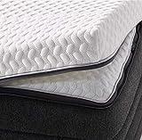 Body-Star Topper Comfort Line, 140 x 200 cm, certificado TÜV, colchón innovador, reversible, espuma de gel y espuma viscoelástica, adecuado para todos los tipos de tumbona, Oeko-Tex 100
