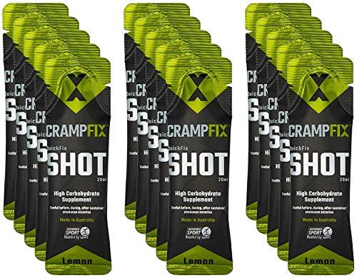 Crampfix QuickFix Shot Sachets - Fast & Effective Relief from Muscle Cramp (15 x 20ml Packets) (Lemon)
