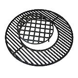 GFTIME Gusseisen Grill Rost-in-Rost Grates System mit Sear Grate für Weber 57cm Holzkohlegrills, rund Guss-Einleger Zubehör, Gourmet BBQ System, Kochgitter Ersatz, Pizzastein, Guss-Pfanne
