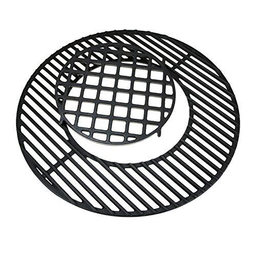 GFTIME Gusseisen Grillrost Ersatz für Weber 57cm Holzkohlegrills, grillrost rund Grill-System kugelgrill zubehör (Nicht klappbar), 22.5 inch Gitter für Weber Gourmet BBQ-Hinged