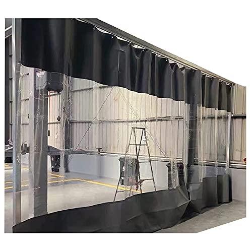 N\A LIJINBO Tarpaulin Trasparente con Occhielli, Grigio Impermeabile Resistente PVC. Pannello for Tende da Esterno for Balcone Patio, 50 Dimensioni (Color : Transparent, Size : 1.6x3m)