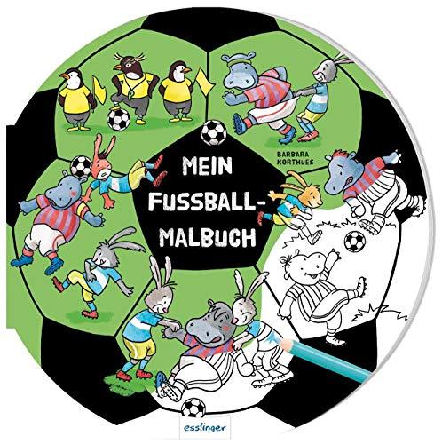 Mein Fußball-Malbuch:   Witziges Buch zum Ausmalen ab 4 Jahren, ideal als Mitbringsel für Kinder