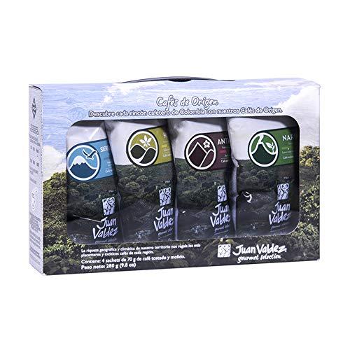 Juan Valdez® Single Origin Germahlenen Kaffee Taster Kit, 4x70g