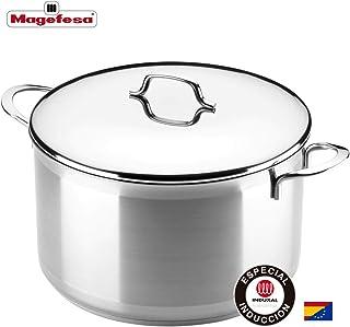 MAGEFESA MILENIUM – La Familia de Productos MAGEFESA MILENIUM está Fabricada en Acero Inoxidable 18/10, Compatible con Todo Tipo de Cocina. Fácil Limpieza y Apta lavavajillas (Olla, 18_cm)