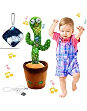 """Bluetooth Rechargeable Dancing Cactus Toy, Electric, Shaking, Recording, Singing, Talking toys, """"Repeat your speech"""" Plush Stuffed Gift For Toddler, Baby, Kids, age 1 2 3 4 5 6 7"""