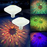 Swimming Pool Lights Floating Pool Lights Underwater Lights Pool Accessories with 7 Modes for Intex Pool Disco Pool Party or Pond Décor 2 Pack