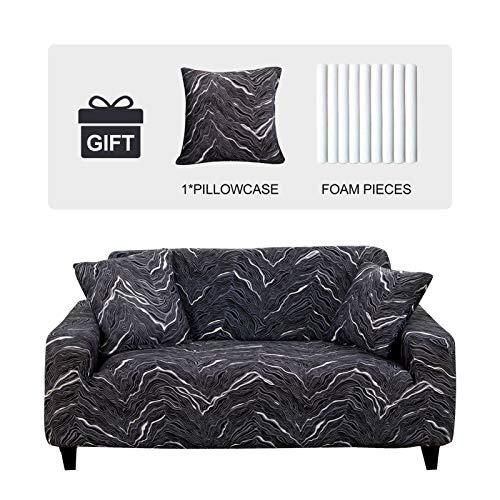JOYDREAM Stretch-Sesselschonbezüge für 1-Sitzer-Sofa, einfache Passform, Möbelschutz für Sessel, weicher Stoff, mit 1 Kissenbezug (klein, blitzend)