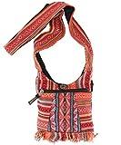 GURU-SHOP Bolso Pequeño Ethno Shoulder Bag, Hippie Bag, Goa Bag - Naranja Oxidado, Unisex - Adultos, Algodón, Tamao:One Size, 17x20 cm, Bolsas con Bandolera