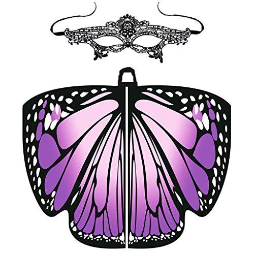 MRULIC Damen SchmetterlingsflüGel Schal Umhang FaschingkostüMe KostüMzubehöR...
