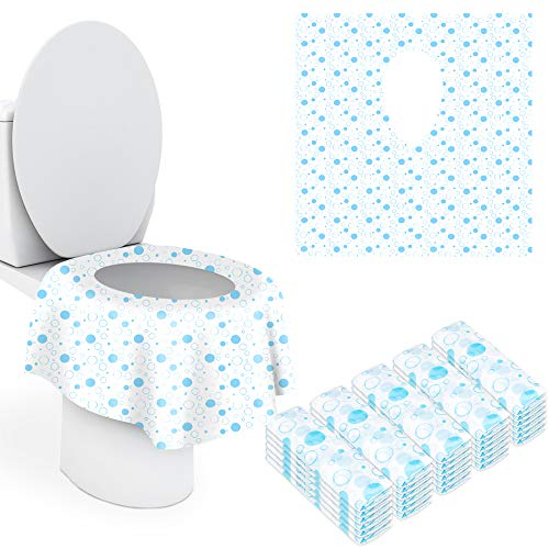 Toilet Seat Cover Disposable XL, 18 Pack Extra Large Full Cover Individually Wrapped Portable for Travel Perfect for Toddlers Potty...
