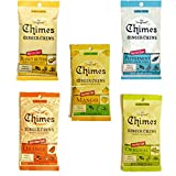 Chimes' Ginger Chews - 5 Pack - All Flavors! (Original, Mango, Orange, Peanut Butter, and Peppermint)