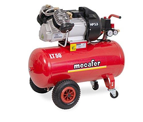 Mecafer - Compresseur d'air 2 cylindres en V, 50L 3,5hp