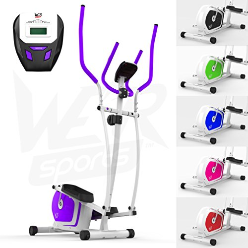 We R Sports Elliptical Cross Trainer & Exercise Bike 2-IN-1 Home Cardio Workout (Purple)