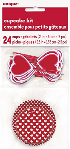 Heart Valentine's Day Cupcake Kit for 24