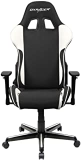 DXRacer OH/FH11/NW Black & White Formula Series Gaming Chair Ergonomic High Backrest Office Computer Chair Esports Chair Swivel Tilt and Recline with Headrest and Lumbar Cushion + Warranty