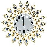 Orologio da parete sospeso in diamante di stile europeo a forma di fiore ... (# 2)