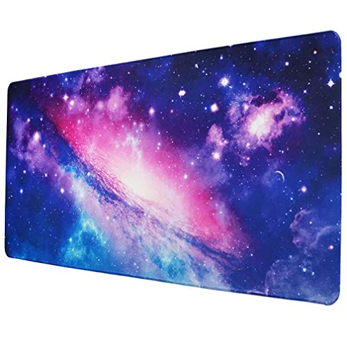 SZWGMY Large Gaming Mouse Pad, Extended Gaming Mousepad XXL,Big Ergonomic Mousepad with Durable Stitched Edges, Non-Slip Rubber Mouse Mat for Office/Computer/Laptop (A, 35.43x15.74x0.08 in)