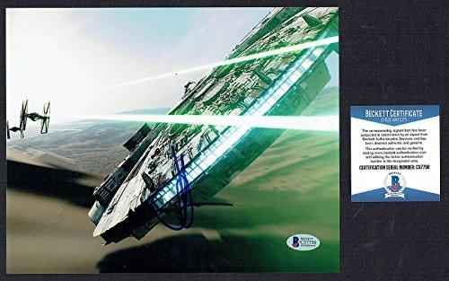 Jeffrey J.J. Abrams signed autograph 8x10 photo Star Wars Millennium Falcon BAS