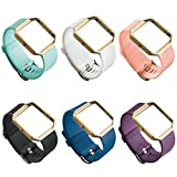UCAI 6 Colors Sports Replacement Bands for Fitbit Blaze Smart Fitness Watch, Large Small Wristbands Accessories for Women Man (No Tracker or Frame) (6PCS, Large)