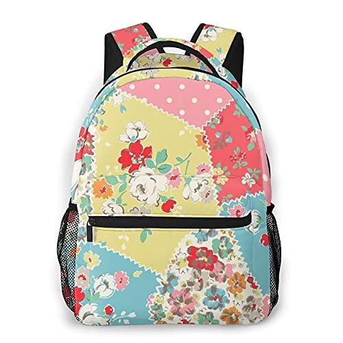 VJSDIUD Zaino Fashion Flowers, borsa per computer portatile da lavoro di grande capacità per uomo e donna, adatta per viaggi, lavoro, scuola, zaino per il tempo libero